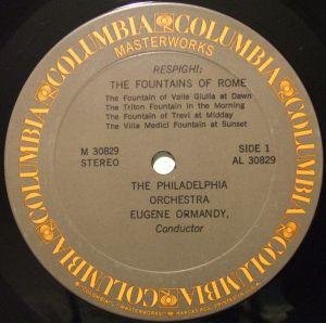 Columbia Masterworks The Fabulous Philadelphia Sound Series M30829 Label