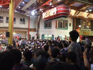 大須ふれあい広場、大須大道芸町人祭、最後の演し物は・・・