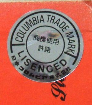 日本コロムビア 商標使用許諾シール