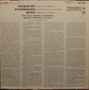 Columbia Masterworks ML5289 Liner notes