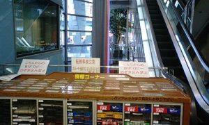 ジュンク堂難波店 「のぞき込み禁止」表示の情報コーナー