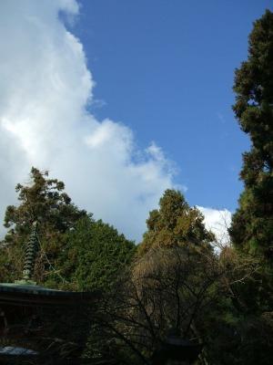 鞍馬山 さっきの曇り模様がウソみたいな晴れ