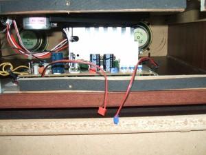 音聴箱 GP-17 スピーカー配線を外したところ