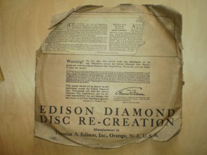 Edison Diamond Disc No.80181 Sleeve