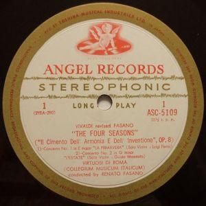東芝音楽工業 ANGEL ASC5109 Label