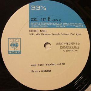 CBSソニー SOCL116-7 ジョージ・セル メモリアルLp Label