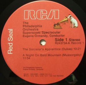 RCA Red Seal R243734 Label