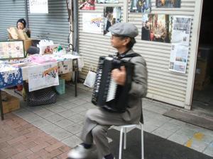 円頓寺商店街 秋のパリ祭2015 中部アコーディオンクラブ他有志の演奏・・・