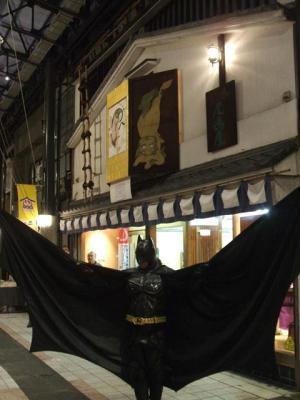 円頓寺商店街 秋のパリ祭2015 にバットマン現る @ヨジマヤ前・・・